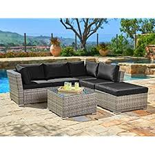 Amazon Prime Patio Chair Cushions by Amazon Com Suncrown Outdoor Furniture Sectional Sofa 4 Piece