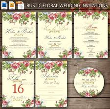 Cheap Rustic Floral Wedding Invitation
