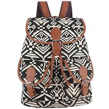 Bohemian Vintage Style Printing Canvas Backpack For Teenage Girls Bagpack