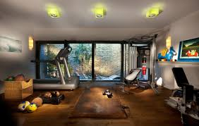 Media Room Contemporary Home Gym Superb Design Ideas   BASEMENTS ... Basement Gym Ideas Home Interior Decor Design Unfinished Gyms Mediterrean Medium Best 25 Room Ideas On Pinterest Gym 10 That Will Inspire You To Sweat Window And Big Amazing Modern Center For Basement Gallery Collection In Flooring With Classic How Have A Haven Heartwork Organizing Tips Clever Uk S Also Affordable