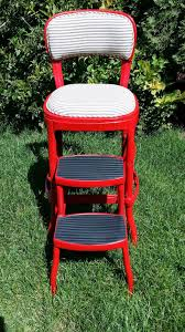 100 C Ing Folding Chair Replacement Parts My Vintage Osco Step Stool I Repainted And Reupholstered I Also