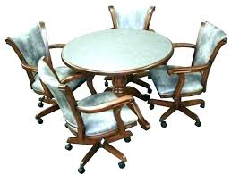 Dining Table And Chairs With Casters Rolling Dining Room Chairs