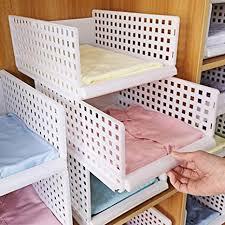 yoillione regal kleiderschrank organizer schublade weiß für schlafzimmer badezimmer küchen stapelbar schrank organizer kleiderschrank aufbewahrung