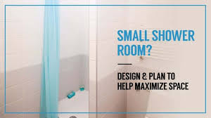 small shower room design and plan to help maximise space