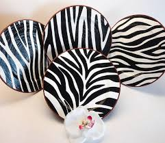Zebra Decor Room Kitchen By PaperPlateArt