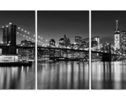 Wall Art Designs New York City Canvas Gallery Wrap Triptych Black White Nyc