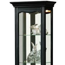 Pulaski Concave Corner Curio Cabinet by Amazon Com Pulaski Curio 18 By 11 By 69 Inch Black Kitchen