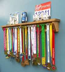 Image Is Loading Medal Hanger Display With Trophy Shelf Gift Ideas