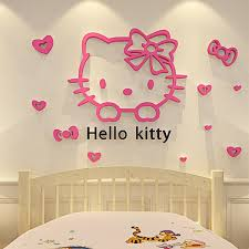 Hello Kitty Walls Stickers 3d Wall Online Mirror Design Glass Removable Small For Kids Room Buy Cheap
