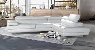 mobilier canapé canapé d angle fixe en cuir 3 places et accoudoir relevables