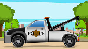 100 Trucks Cartoon Police Tow Truck Formation For Kids Kids Videos Kids