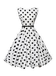 boat neck belt polka dot skater dress fashionmia com