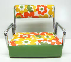 VINTAGE FLOWER POWER CHILDS PORTABLE BOOSTER SEAT | Everything's ... Munchkin Portable Booster Seat New Child Big Kids Chair Cushion Floor Pad 3 Thick Travel Bluegrey The First Years Onthego Best Seats For Eating With Your Baby At The Dinner Table Childcare Primo Hookon High Blue Print Foldable Ding Booster Seat Flippa From Mykko Sit N Style Booster Seat Summer Infant Baby Products Mabybooster Bag Munchkin High Chair 28 Images 174 Travel 2 In 1 And Diaper