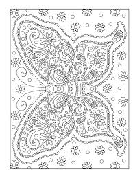 Grown Up Coloring Pages Butterfly