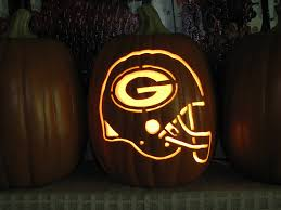 Alien Pumpkin Designs by Green Bay Packers Helmet Pumpkin Carving Greenbay Packers