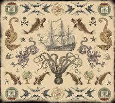Vintage Nautical Tattoos Design Flash By Novelatelier On Etsy