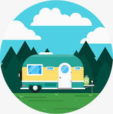 Cute RV Camping Vector Outdoor Travel Free PNG And