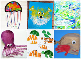 Easy And Fun Ocean Kid Crafts