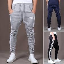 classic men slacks sweat sports pants casual baggy harem skinny