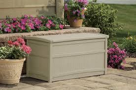 Suncast 50 Gallon Deck Boxstorage Bench by Storage Perfect Suncast 50 Gallon Deck Box Poly Resin