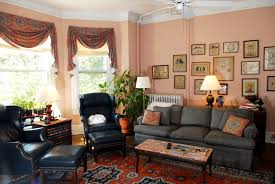 Black Sectional Living Room Ideas by Living Room Color Schemes Brown Couch Sofa With Floral Pillows Set