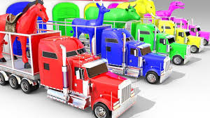 100 Funny Truck Names Learning Colors Animals For Children With Animal S