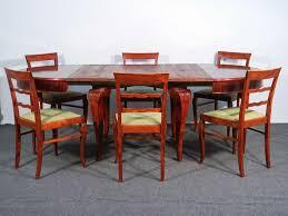 esszimmer déco tisch 6 stühle set tafel alt antik möblinger