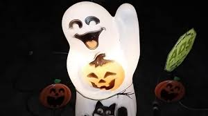Vintage Halloween Ghost Blow Mold by Halloween Blow Molds U0026 Porch Decor At Night Youtube