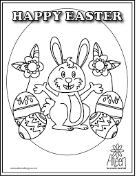 Happy Easter 2 Coloring Page