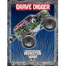 Monster Jam Grave Digger Plush Throw 46 X 60