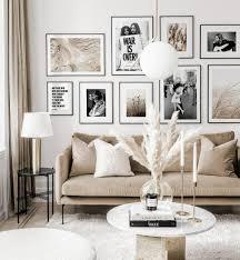 trendige bilderwand schwarz weiße ikonenhafte poster