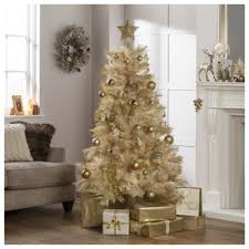 Festive 6ft Cream Gold Funky Fir Christmas Tree
