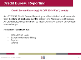 trw credit bureau perkins and other cus based loan management 101 workshop ppt