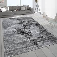 industrial rug 3d pattern concrete look grey