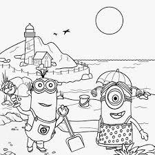 Minions En Vacance Coloriage Minions Coloriages Pour Enfants
