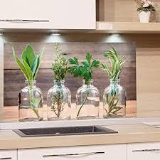 grazdesign küchenrückwand glas bild spritzschutz herd edler kunstdruck hinter glas bild motiv gewürze eyecatcher für zuhause 60x40cm