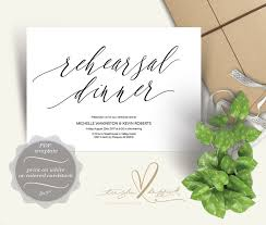 Wedding Rehearsal Dinner Invitation PDF Template In Rustic Design Theme Y0313