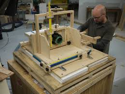 homemade horizontal router table finewoodworking