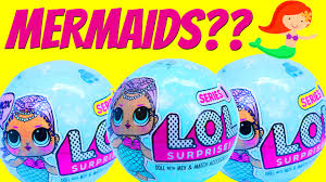 LOL Surprise Memaid Doll Series Unboxing Swimming In Ariel Pool