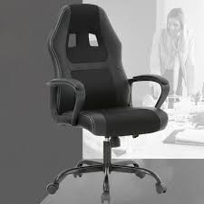 Racing Office Chair, Desk Gaming Chair Ergonomic Computer Chair W Lumbar  Support