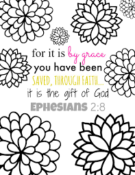 Bible Verse Coloring Page For It Is By Grace