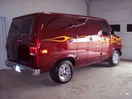 Old Custom Chevy Van