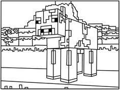 Printable Minecraft Games Skeleton Coloring Page