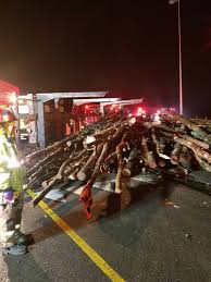 100 Logging Truck Accident SC Highway Blocked In Columbia By Logging Truck Crash Spill The State