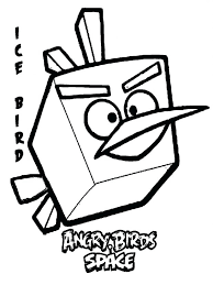 Angry Birds Space Ice Bird Kids Coloring Pages Printable Pigs Epic To Print