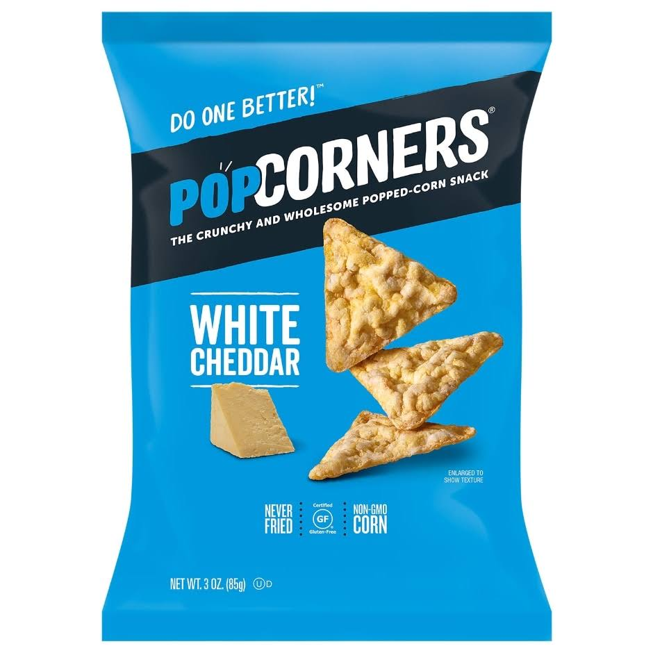 Popcorners White Cheddar Popped Corn Chips - 3oz