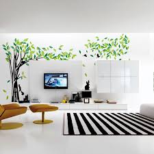 large green tree wall sticker vinyl living room tv wall removable