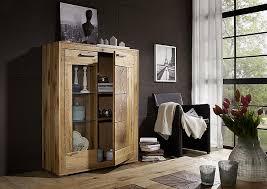 wohnzimmer komplett rustic 5teilig wildeiche massiv geölt hirnholz