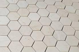 crema marfil marble 2x2 hexagon mosaic tile honed