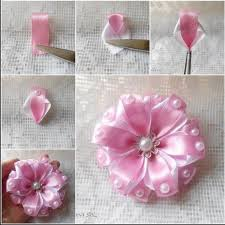 DIY Make Satin Ribbon Carnation Flower Tutorial